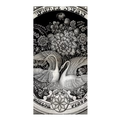 Swans Floral Pattern Vintage Shower Curtain 36  X 72  (stall)  by Nexatart