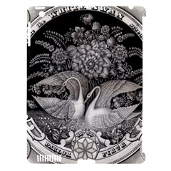 Swans Floral Pattern Vintage Apple Ipad 3/4 Hardshell Case (compatible With Smart Cover)
