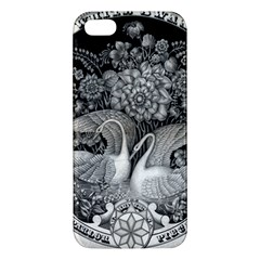 Swans Floral Pattern Vintage Apple Iphone 5 Premium Hardshell Case by Nexatart