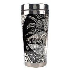 Swans Floral Pattern Vintage Stainless Steel Travel Tumblers by Nexatart