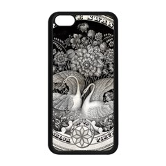 Swans Floral Pattern Vintage Apple Iphone 5c Seamless Case (black) by Nexatart