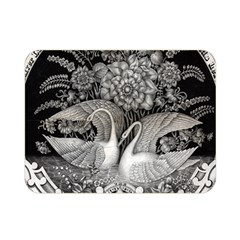 Swans Floral Pattern Vintage Double Sided Flano Blanket (mini)  by Nexatart