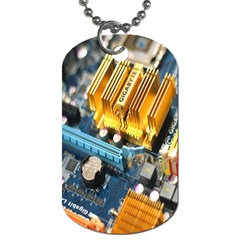 Technology Computer Chips Gigabyte Dog Tag (One Side) by Nexatart