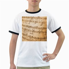 Music Notes Background Ringer T Shirts