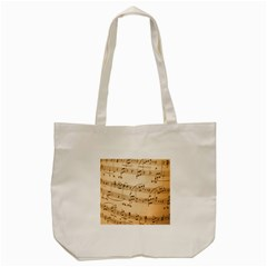 Music Notes Background Tote Bag (cream) by Nexatart