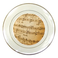Music Notes Background Porcelain Plates