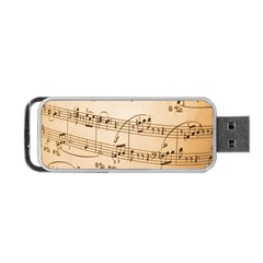Music Notes Background Portable Usb Flash (two Sides) by Nexatart