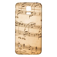 Music Notes Background Samsung Galaxy S5 Back Case (white) by Nexatart