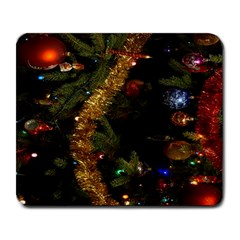 Night Xmas Decorations Lights  Large Mousepads by Nexatart