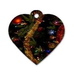 Night Xmas Decorations Lights  Dog Tag Heart (one Side)