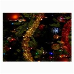 Night Xmas Decorations Lights  Large Glasses Cloth