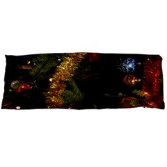 Night Xmas Decorations Lights  Body Pillow Case Dakimakura (two Sides) by Nexatart