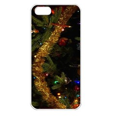 Night Xmas Decorations Lights  Apple Iphone 5 Seamless Case (white) by Nexatart