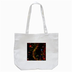 Night Xmas Decorations Lights  Tote Bag (white)