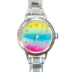 Watercolour Gradient Round Italian Charm Watch