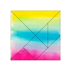 Watercolour Gradient Acrylic Tangram Puzzle (4  x 4 ) by Nexatart
