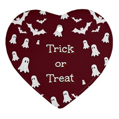 Halloween Free Card Trick Or Treat Ornament (heart) by Nexatart