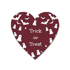 Halloween Free Card Trick Or Treat Heart Magnet by Nexatart