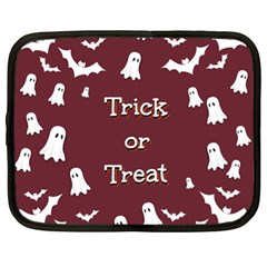 Halloween Free Card Trick Or Treat Netbook Case (xl)