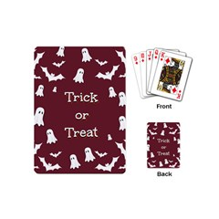 Halloween Free Card Trick Or Treat Playing Cards (mini)  by Nexatart