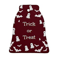 Halloween Free Card Trick Or Treat Ornament (bell) by Nexatart