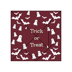 Halloween Free Card Trick Or Treat Acrylic Tangram Puzzle (4  X 4 )