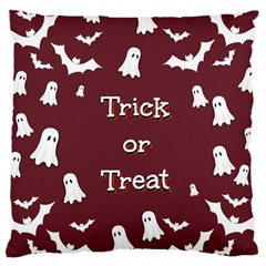Halloween Free Card Trick Or Treat Large Cushion Case (two Sides)