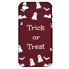 Halloween Free Card Trick Or Treat Apple Iphone 4/4s Hardshell Case (pc+silicone) by Nexatart