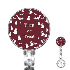 Halloween Free Card Trick Or Treat Stainless Steel Nurses Watch by Nexatart