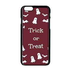 Halloween Free Card Trick Or Treat Apple Iphone 6/6s Black Enamel Case by Nexatart