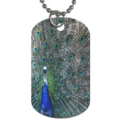 Peacock Four Spot Feather Bird Dog Tag (one Side)