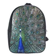 Peacock Four Spot Feather Bird School Bags(large)  by Nexatart