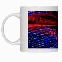 Lights Abstract Curves Long Exposure White Mugs by Nexatart