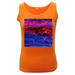 Lights Abstract Curves Long Exposure Women s Dark Tank Top