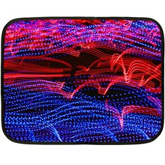 Lights Abstract Curves Long Exposure Double Sided Fleece Blanket (mini)  by Nexatart