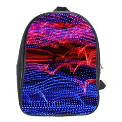 Lights Abstract Curves Long Exposure School Bags (xl)  by Nexatart