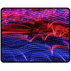 Lights Abstract Curves Long Exposure Double Sided Fleece Blanket (medium)  by Nexatart