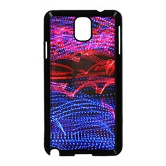 Lights Abstract Curves Long Exposure Samsung Galaxy Note 3 Neo Hardshell Case (black) by Nexatart