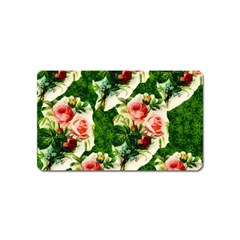 Floral Collage Magnet (name Card) by Nexatart