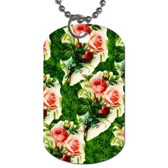 Floral Collage Dog Tag (one Side)