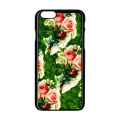 Floral Collage Apple Iphone 6/6s Black Enamel Case by Nexatart