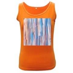 Vertical Abstract Contemporary Women s Dark Tank Top