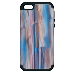 Vertical Abstract Contemporary Apple Iphone 5 Hardshell Case (pc+silicone)