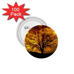 Moon Tree Kahl Silhouette 1 75  Buttons (100 Pack)  by Nexatart