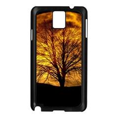 Moon Tree Kahl Silhouette Samsung Galaxy Note 3 N9005 Case (black)