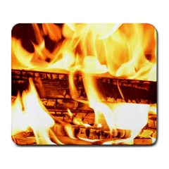 Fire Flame Wood Fire Brand Large Mousepads