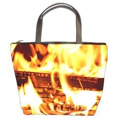 Fire Flame Wood Fire Brand Bucket Bags
