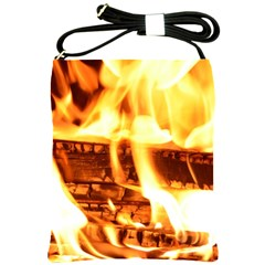 Fire Flame Wood Fire Brand Shoulder Sling Bags