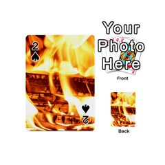 Fire Flame Wood Fire Brand Playing Cards 54 (mini)
