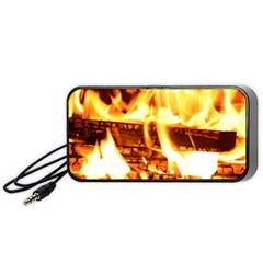 Fire Flame Wood Fire Brand Portable Speaker (black)